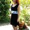 Black Ponte Panel  Dress