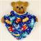 Dribble Bandanna Baby Bib - So Soft, Bamboo Toweling, Cotton Spaceship Fabric
