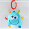Blue Monster Baby Rattle Toy