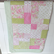 Baby Girl Patchwork Cot Quilt - Bedding - Payment Plan Available