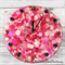 Tick Tock - Hot Pink - Girls / Ladies Resin clock - silent motion