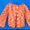 Toddler's Jacket - variegated white yellow orange