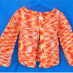 Toddler's Jacket - variegated white yellow orange