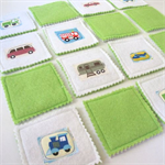 Memory Matching Pairs Game, Grab and Go Game, 10 Pairs Felt Cards