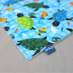 wash or burp cloth - turtles / organic cotton bamboo towelling / girl or boy