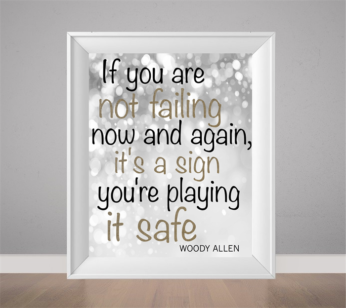 Quotes About Love: Woody Allen Quote, Inspirational Life Print, Motivational