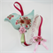 Hairclip Holder : teal green floral bird