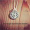 Blossom Charm Hand Stamped Sterling Silver Pendant/ Jewellery/ Necklace