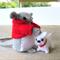 Felt Mouse Miniature with pet dog - doll house tiny softie toys