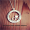 Infinity / Hand Stamped Sterling Silver Pendant/ Jewellery/Necklace