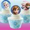 12x EDIBLE wafer  Frozen Elsa & Anna cupcake toppers