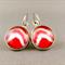 Cabochon Drop Earrings - Crimson Shades