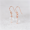ROSE Clear Faceted Glass Bead Earrings - Rose Gold Plated with Clear Czech Glass