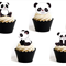 12x EDIBLE wafer  baby boy panda cupcake toppers for baby shower