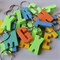 ALPHABET CRAZY - Handmade resin alphabet letter bag tag