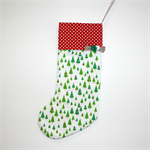 Christmas Stocking : Green Xmas Tree with red dot