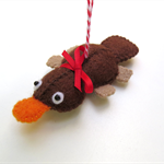 Platypus - Felt Decoration Ornament - Australian Animal - Christmas