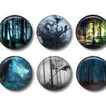 Magnets - Dark Forest - set of 6 fridge magnets