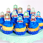 12x EDIBLE wafer  Thomas the Tank Engine  cupcake toppers