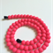 Silicone Teething Necklace Neon Pink