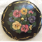 Wooden Powder Bowl with Lid - Painted Daisies