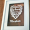 Mothers Day -CUSTOMISED papercut heart present