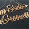 Beautiful Rustic / Natural Wedding Chair Sign Hangers - Your choice of Text