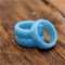 Sky blue faceted resin stacking ring