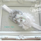 Silver and white flowers headband