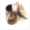 Metallic Gold Leather Baby Shoes - last pair