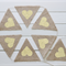 YELLOW HESSIAN BURLAP BUNTING RUSTIC HEARTS WEDDING BABY SHOWER DECORATION