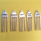 5 Hand Stamped Vintage Silver Fork Cheese Markers. Kitchen Gift