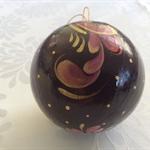 Christmas Bauble -burgundy