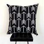 Black and White Arrow and Chevron Cushion Cover