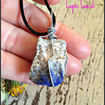 Raw Lapis Lazuli Wire Wrapped Crystal Necklace