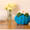 Aqua Blue 2 Cup Tea Cosy with white daisy flowers
