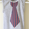 Grey Singlet with Red Blue and White Stars and Stripes Necktie Applique