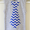 Boys Grey Singlet with a Chevron Print Necktie Applique
