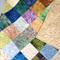 Neutral toned patchwork lap Quilt