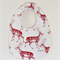 Cotton Red and Ivory Deer Print Bib with Double Layered Flannel Backing