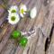 Green Peridot Gemstone & Tibetan Bead Earrings