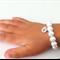 Little Girl Initial Bracelet, weddings, flowergirl jewelry, flowergirl bracelet