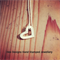 Love Heart, 1st layer in 3 stack. Hand stamped pendant personalised for you!