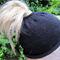 Ponytail Beanie Black - custom made to order