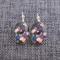 Japanese Blossom~Oval Lever Back Earrings