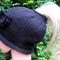 Ponytail Beanie Black - custom made to order