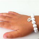 Little Girl Initial Bracelet, weddings, flowergirl jewelry, flowergirl bracelet