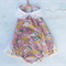 Vintage Shabby Chic 'Floral Fun' Romper Play suit with collar Baby Girl Set