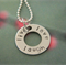CREATE YOUR OWN with a LARGE shape and a chain.  Personalise for you.