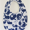 Blue Whale Print Bib with Double Layered Absorbent Flannel Backing